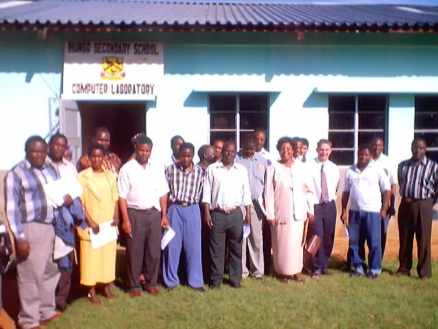 """computer networking workshop participants, Ihungo Secondary School"", Bukoba, Tanzania, 2002"