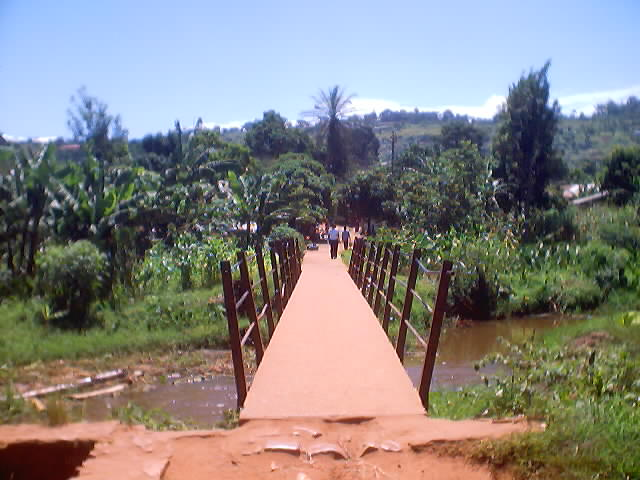 bridge across the Kanoni river, Bukoba, Tanzania, 2003