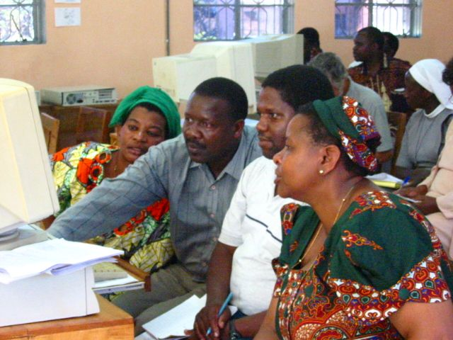 """networking workshop participants, Ihungo Secondary School"", Bukoba, Tanzania, 2002"
