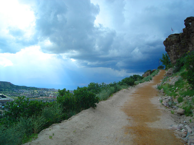 Path to the top of Castle Rock, Castle Rock, Colorado, 2010