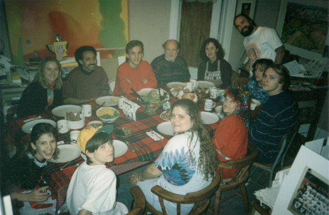 the Vogl family at Christmas dinner, South Bend, Indiana, 1997