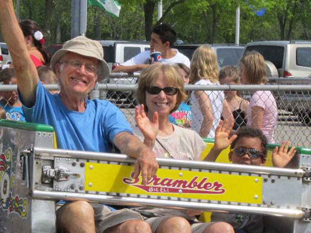"""Dan, Amy and Joachim on an amusement park ride"", Green Bay, Wisconsin, 2011"