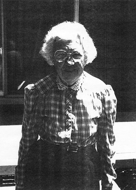 Anna Vogl at age 90, Milwaukee, Wisconsin, 1992