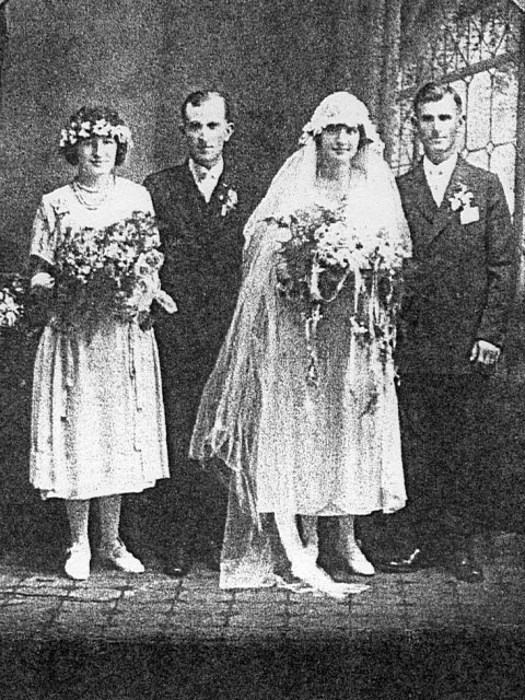 Michael and Anna Vogl at their wedding, Milwaukee, Wisconsin, 1922