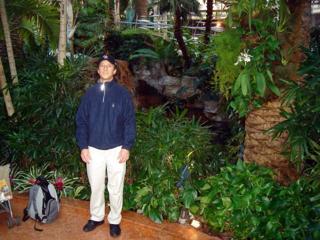 Greg in the Bellagio garden, Las Vegas, Nevada, 2009