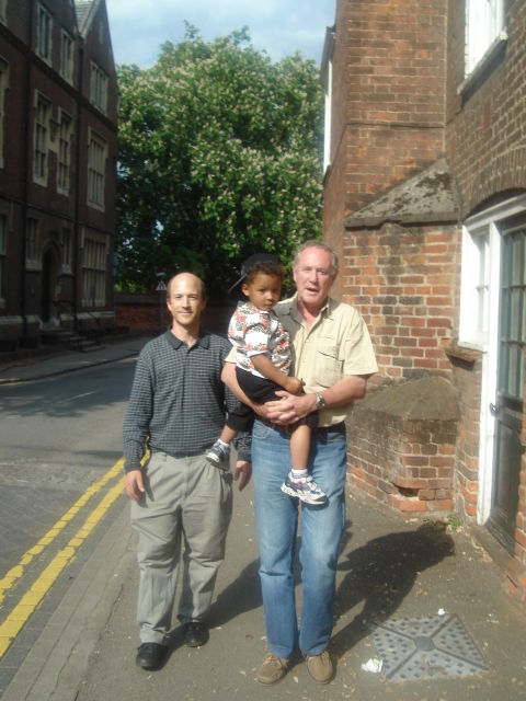 Greg and Joachim with Michael Hodd at Eton, Windsor, UK, 2008