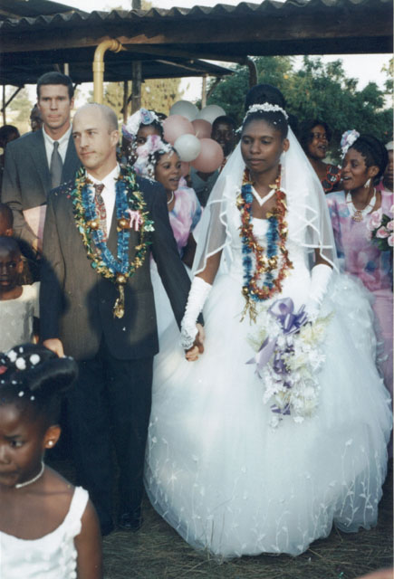 """Greg and Joanitha, just married"", Bukoba, Tanzania, 2003"