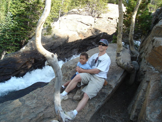 Greg and Joachim at Alberta Falls, Rocky Mountain NP, Colorado, 2008