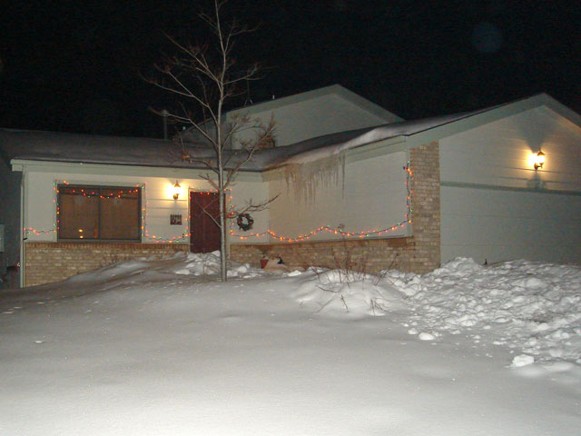 our house on a winter night, Fort Collins, Colorado, 2006