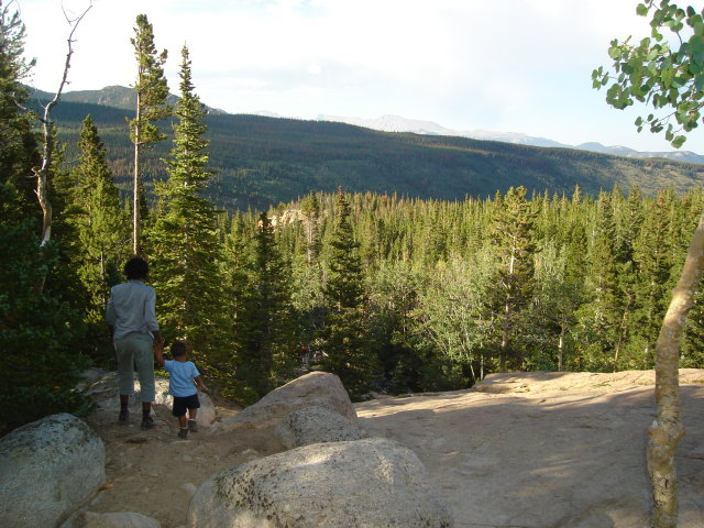 Joachim and Joanitha descending from Alberta Falls, Rocky Mountain NP, Colorado, 2008