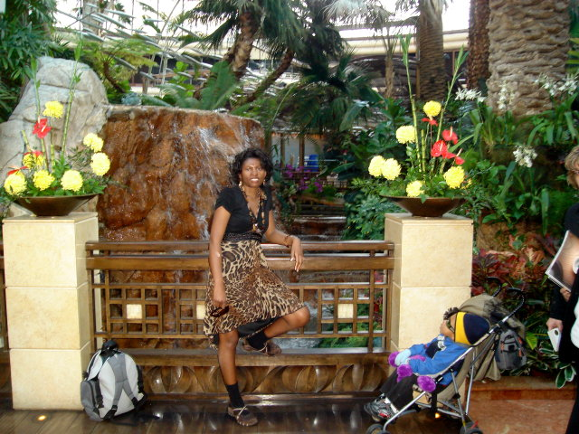 Joanitha and Joachim in the Bellagio garden, Las Vegas, Nevada, 2009