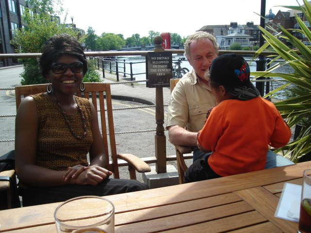 Joanitha and Joachim with Michael Hodd, Windsor, UK, 2008