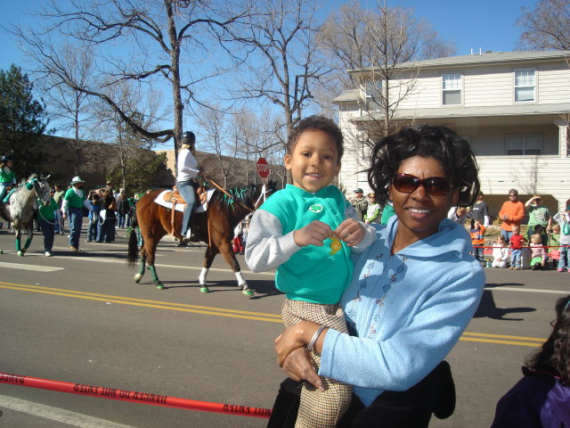 Joanitha and Joachim on St. Patrick's Day, Fort Collins, Colorado, 2009