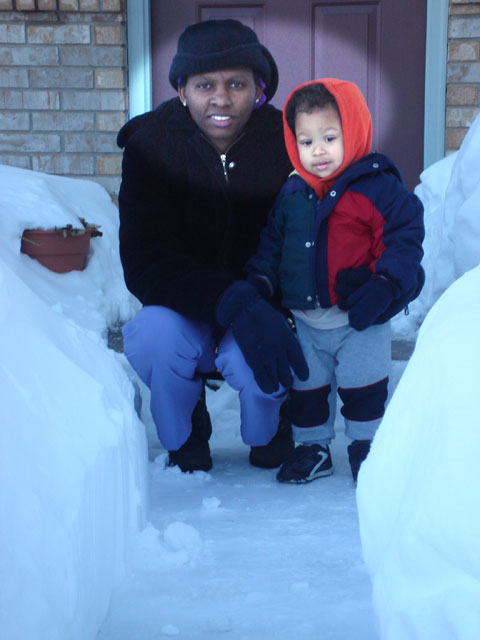 Joanitha and Joachim in the snow, Fort Collins, Colorado, 2006