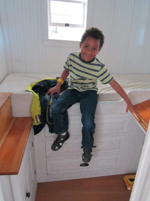 """Joachim in boat berth, Discovery museum"", Milwaukee, Wisconsin, 2011"