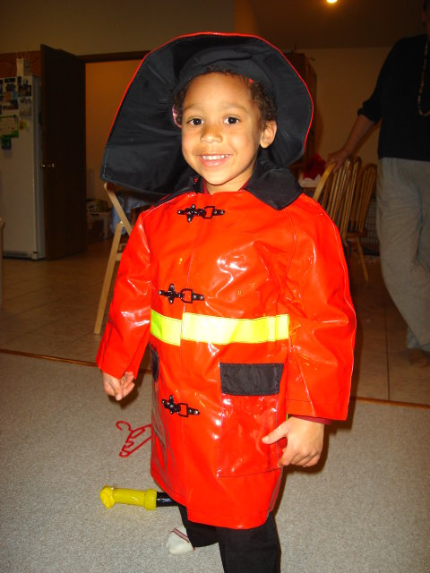 Joachim as fireman, Fort Collins, Colorado, 2009