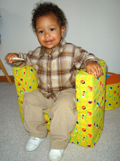 Joachim in a foam chair, Fort Collins, Colorado, 2006