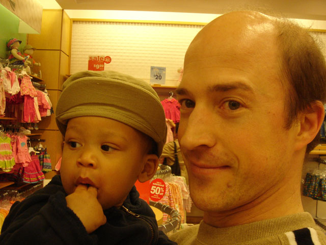 Joanitha and Greg shopping, Denver, Colorado, 2006