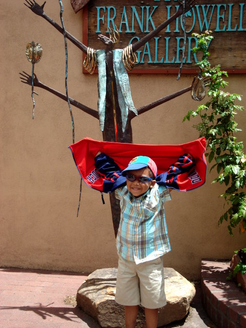 Joachim by an art gallery, Santa Fe, New Mexico, 2009