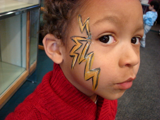 Joachim with face paint, Fort Collins, Colorado, 2009