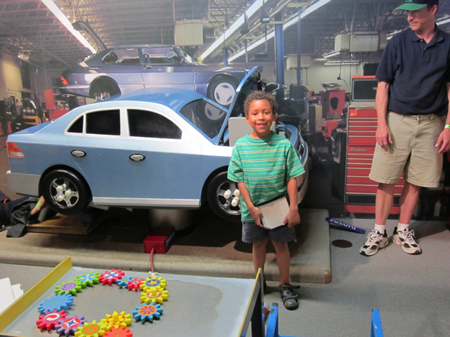 Joachim as a mechanic at the children's museum, Milwaukee, Wisconsin, 2011