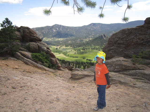 Joachim on Lily Mountain trail, Rocky Mountain NP, Colorado, 2011