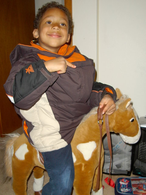 Joachim on a horse, Fort Collins, Colorado, 2010