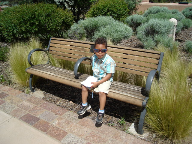 Joachim on a park bench, Santa Fe, New Mexico, 2009