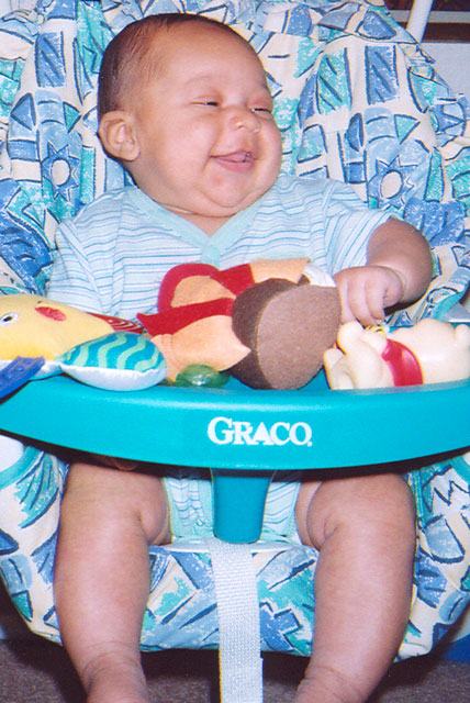 Joachim in his swing, Fort Collins, Colorado, 2005
