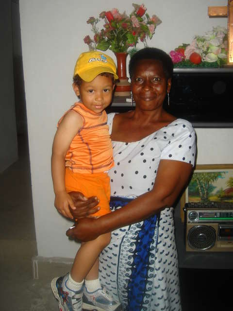 Joachim with great aunt Veronica, Dar es Salaam, Tanzania, 2008