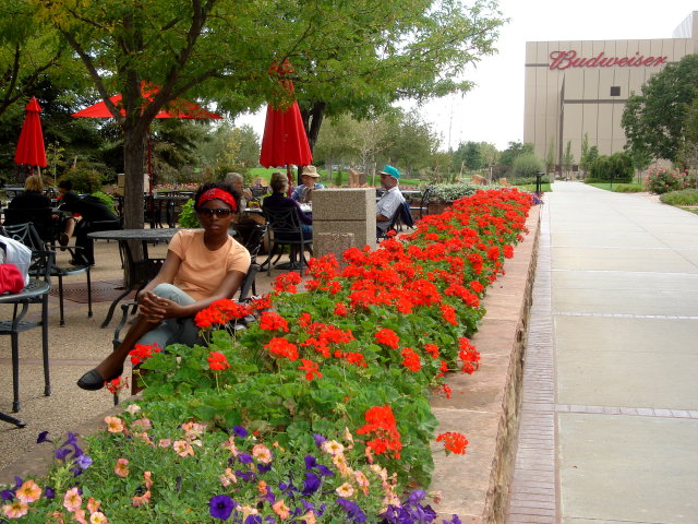 Joanitha at Budweiser brewery, Fort Collins, Colorado, 2008