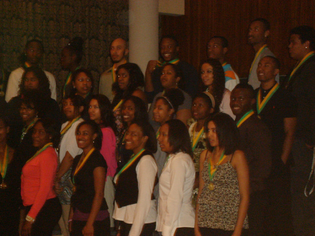 Joanitha at the CSU African American awards night, Fort Collins, Colorado, 2011