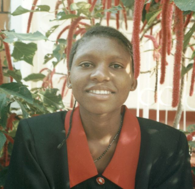 Joanitha on Valentine's day, Kampala, Uganda, 2003