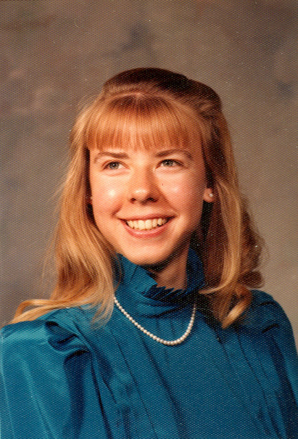 Kathy in high school, South Bend, Indiana, 1983