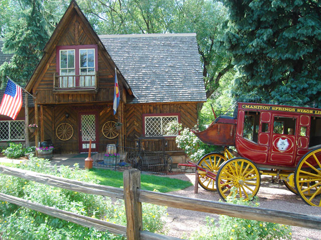 house and coach, Manitou Springs, Colorado, 2010