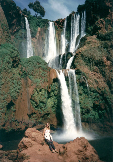 """Mary by the waterfall, Cascades d'Ouzoud"", Azilal, Morocco, 1992"