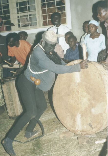 """traditional dancer, sendoff party"", Bukoba, Tanzania, 2003"