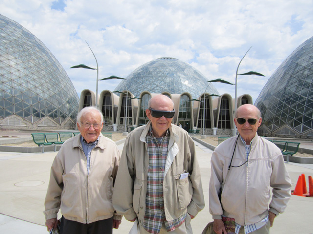 """Norb, Mike and Don at the Domes"", Milwaukee, Wisconsin, 2011"