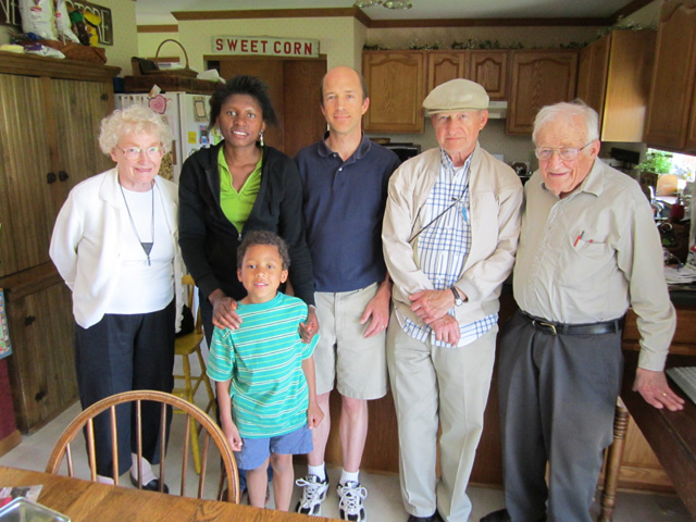 """Phyllis, Joanitha, Joachim, Greg, Don and Norb"", Waupun, Wisconsin, 2011"