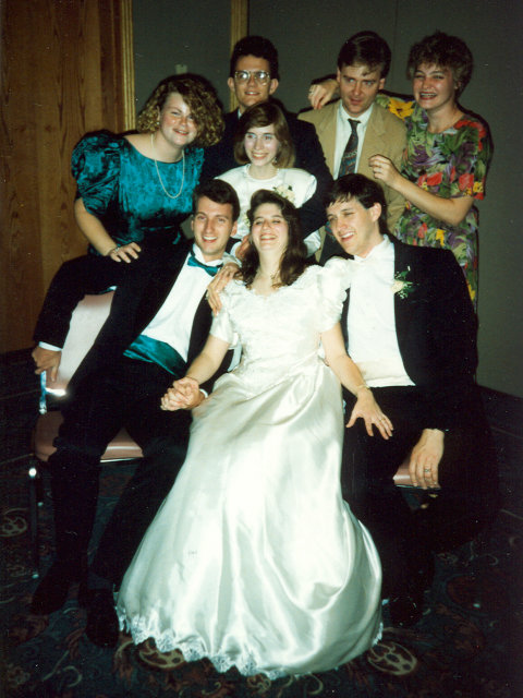 Paula's wedding, Indianapolis, Indiana, 1990