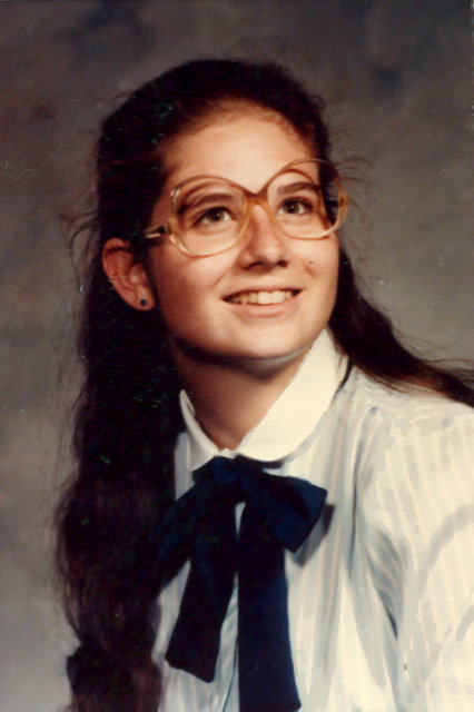 Paula in high school, South Bend, Indiana, 1983