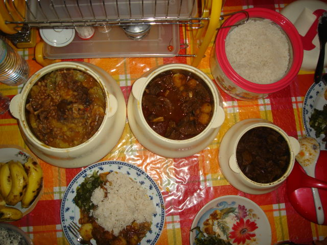 supper at Sawiya's house, Bukoba, Tanzania, 2008