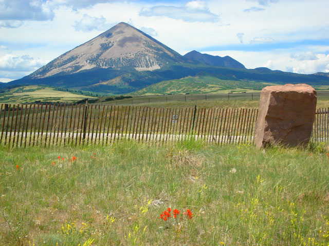 peak near the Spanish Peaks, La Veta, Colorado, 2010