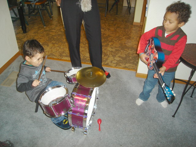 Tariq and Joachim rockin' the house, Fort Collins, Colorado, 2008