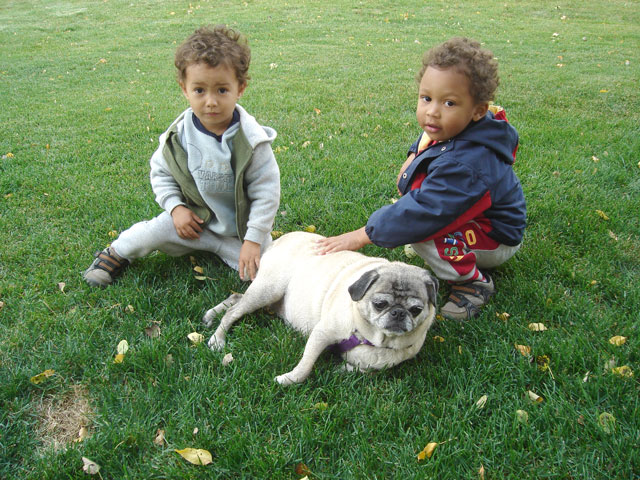 Tariq and Joachim with Wendi, Fort Collins, Colorado, 2007