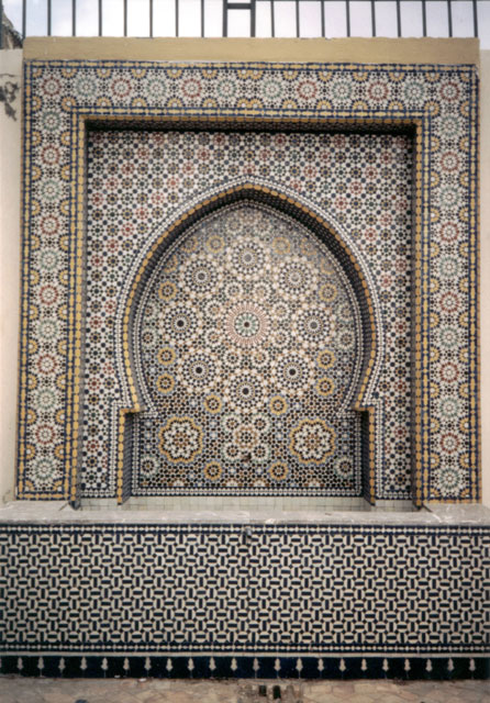 """tile pattern, tomb of Moulay Ismail"", Meknès, Morocco, 1992"