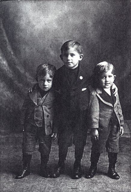"""Michael, Tony and a twin"", Milwaukee, Wisconsin, 1900?"