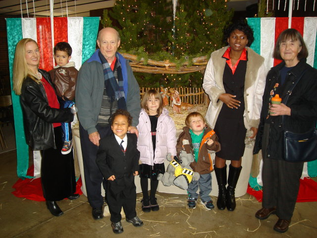 The Vogls at church on Christmas, Fort Collins, Colorado, 2008