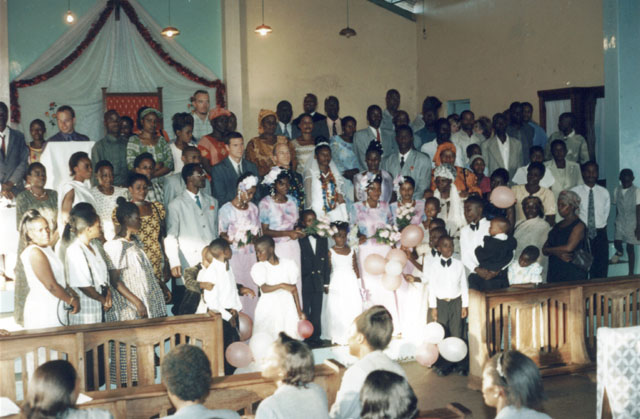 Greg and Joanitha's wedding, Bukoba, Tanzania, 2003