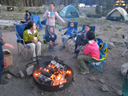 Campfire at Glacier Basin Campground, Rocky Mountain NP, Colorado, 2011